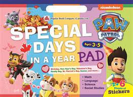 Paw Patrol Special Days In A Year Ages3-5